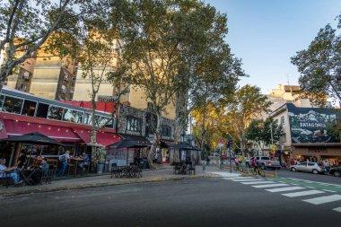 Buenos Aires, Argentina - May 11, 2018: Bar and restaurants at Palermo Soho bohemian neighborhood - Buenos Aires, Argentina