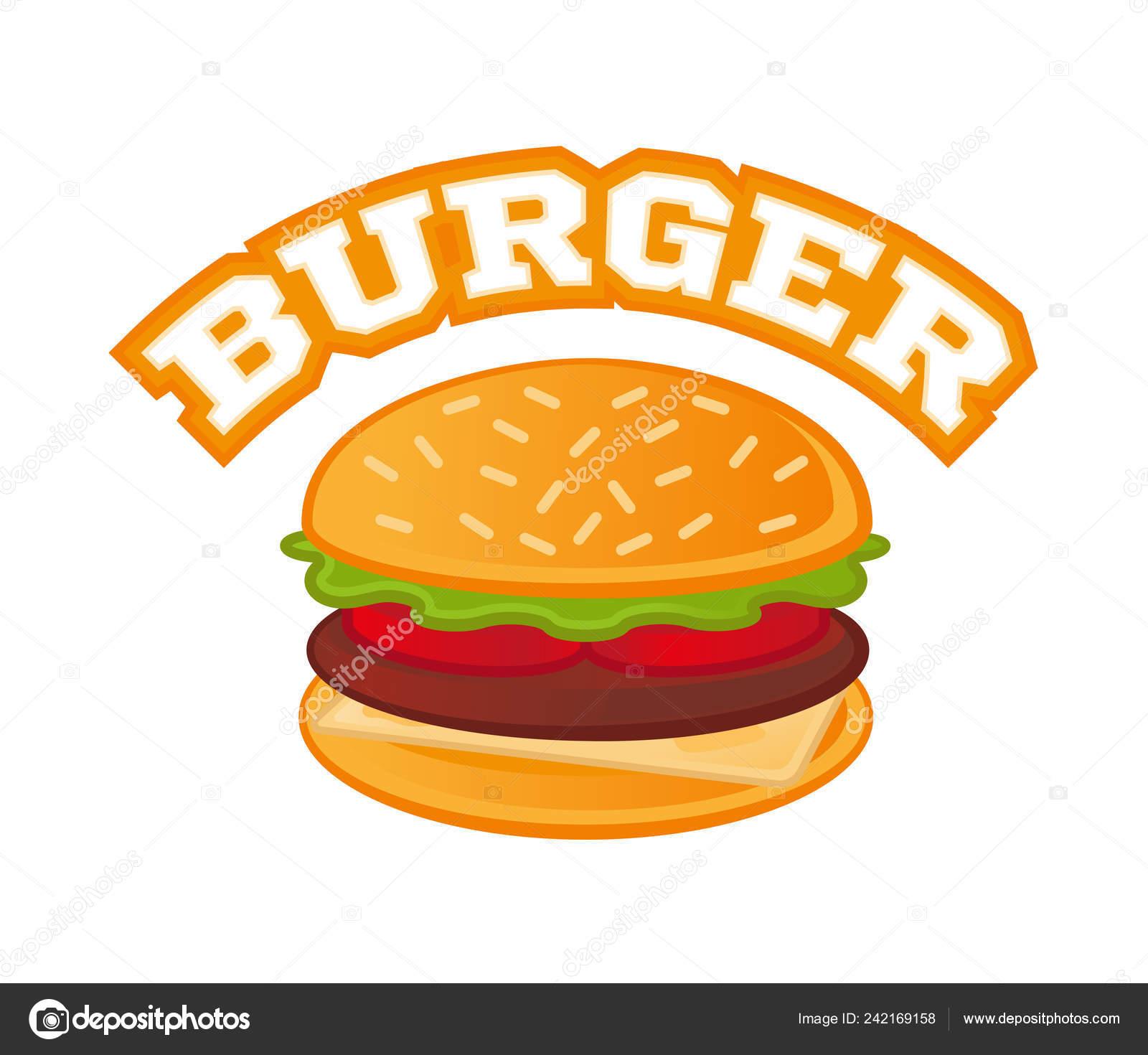 Logo Burger Cartoon Stock Vector C Dovbush94 242169158