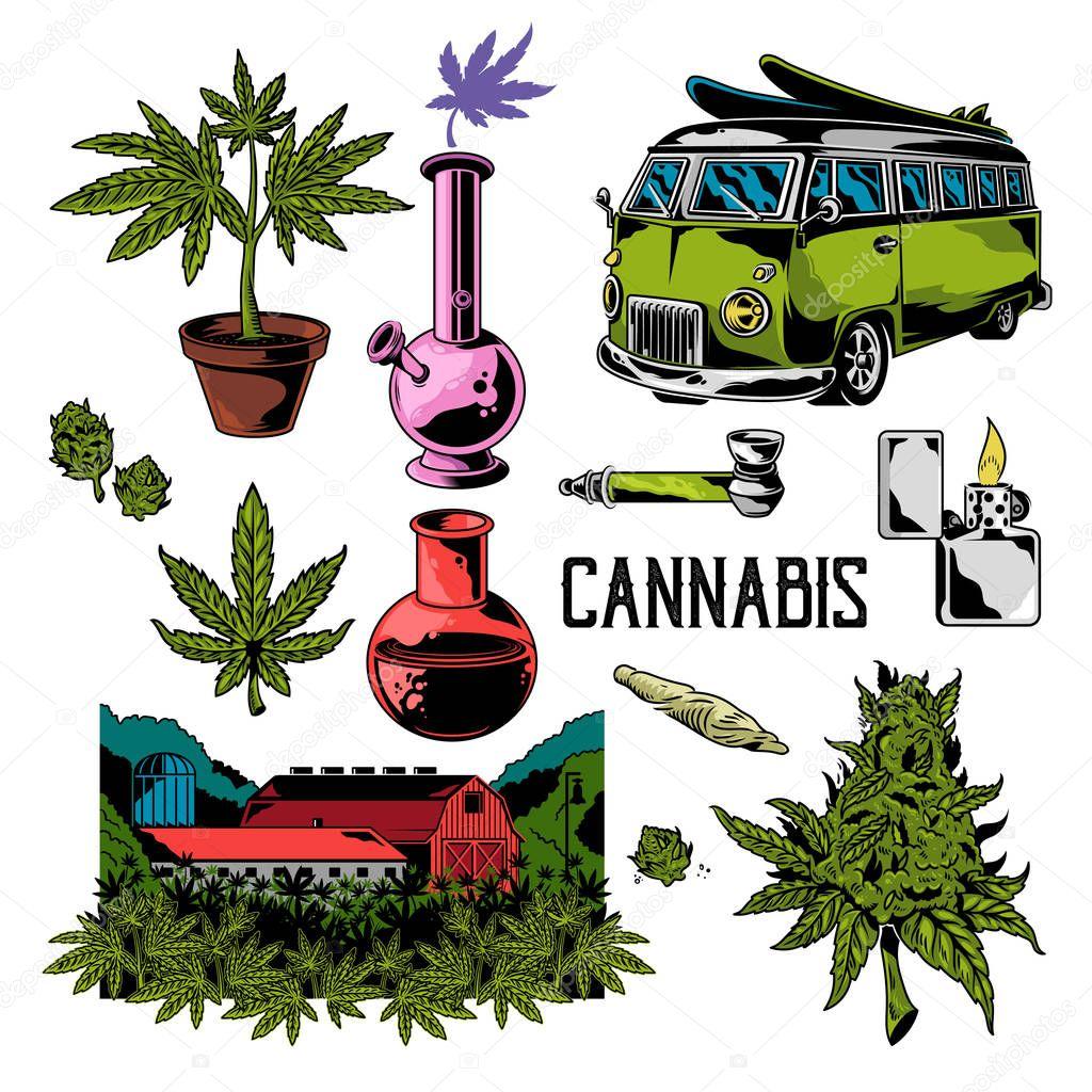 cannabis set elements