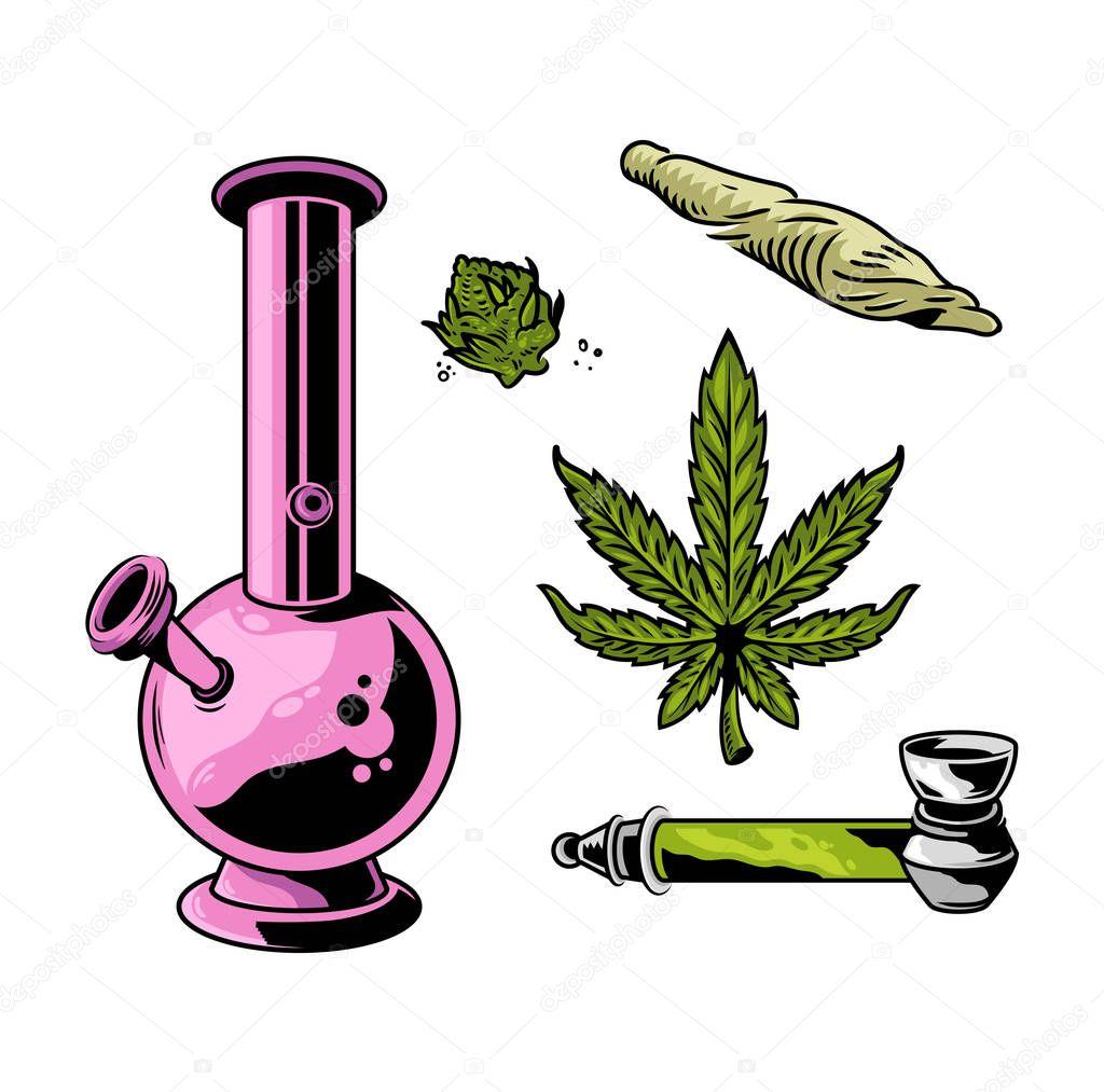 cannabis smoking set