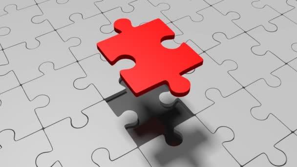 fehlendes Puzzle - ideal für Themen wie Lösung, Innovation, fehlendes Teil etc. 3D Animation / 3D Rendering.