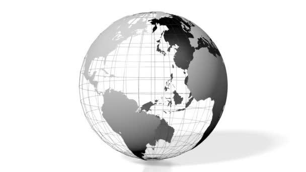 3D animace / 3d zobrazování - země všech kontinentů (Evropa, Asie, Afrika, Jižní Amerika, Severní Amerika, Austrálie).
