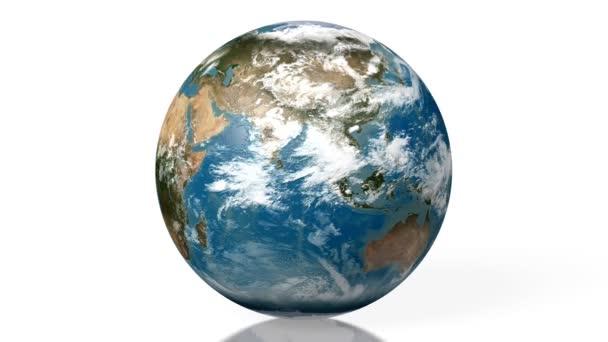 3D animace / 3d zobrazování - země všech kontinentů (Evropa, Asie, Afrika, Jižní Amerika, Severní Amerika, Austrálie). Prvky tohoto obrázku jsou podle Nasa