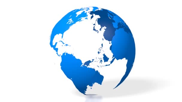 3D blue Earth/ globe/ world map with all continents (Europe, Asia, North America, South America, Australia, Greenland).