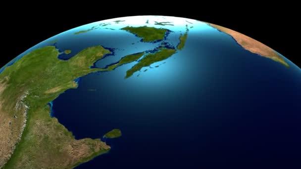 3D rotierenden Erde / globe / Weltkarte.