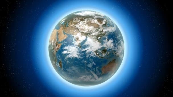 3D Earth s všech kontinentů (Evropa, Asie, Severní Amerika, Jižní Amerika, Austrálie, Grónska), hvězdy / prostor / Kosmos v pozadí.