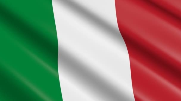 3D weaving material flag of Italy - animation.