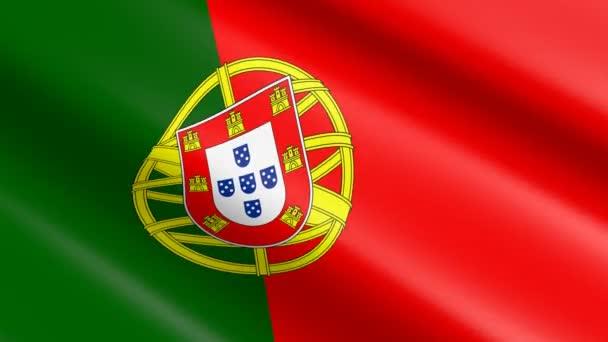Portugália - animáció 3D szövés anyagi zászlaja.