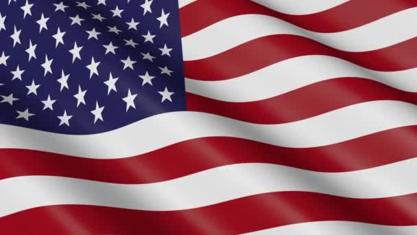 3D weaving material flag of the United States of America (USA) - animation.