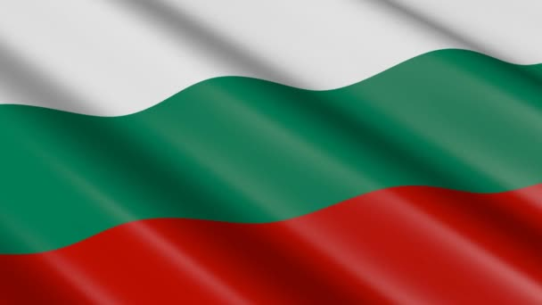 3D weaving material flag of Bulgaria - animation.