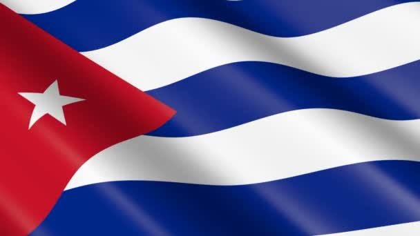 3D weaving material flag of Cuba - animation.