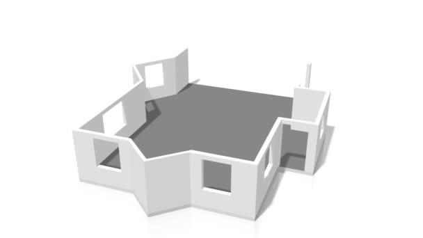 3D dům stavba - Skvělé pro témata jako staveniště / architektura atd.