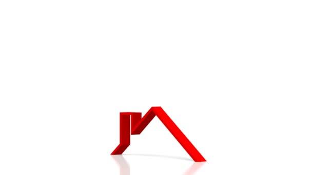 3D Haus-Form - ideal für Themen wie Haus kaufen / verkaufen / real Estate Agent etc.