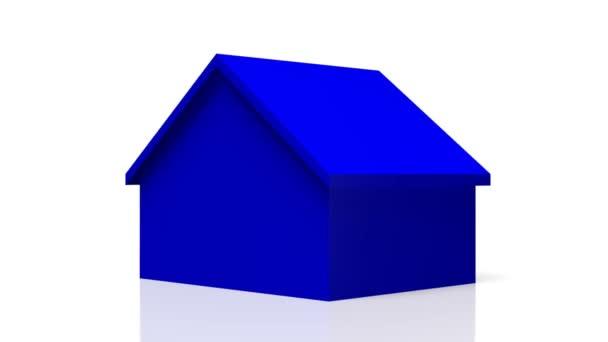 3D tvar modrého domu - skvělý pro témata jako dům koupit / prodat / real estate agent atd.