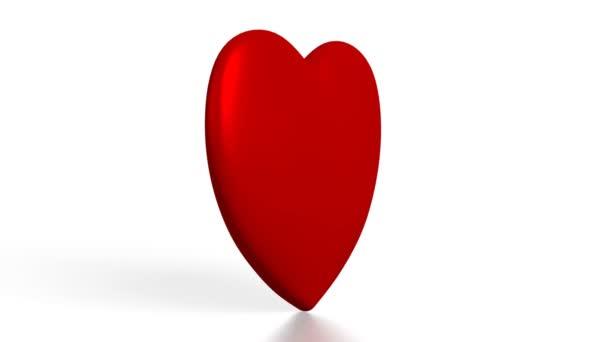 3D-s szív alakú, fehér háttér - nagy témák, mint a szeretet, társkereső, Valentin-nap, stb.