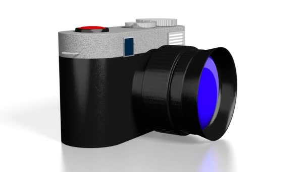 3D kamery turistické na bílém pozadí - velký pro témata jako fotografování atd.