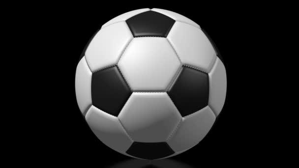 3D fotbal / fotbal míč na černém pozadí.
