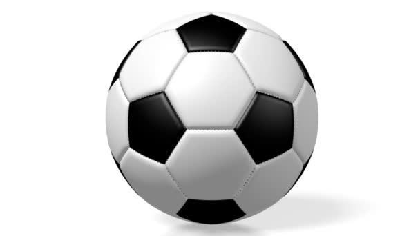 3D foci / futball labda, fehér háttér