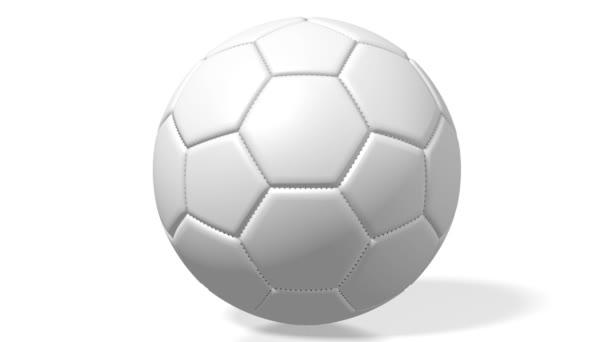 3D fotbal / fotbal míč na bílém pozadí.