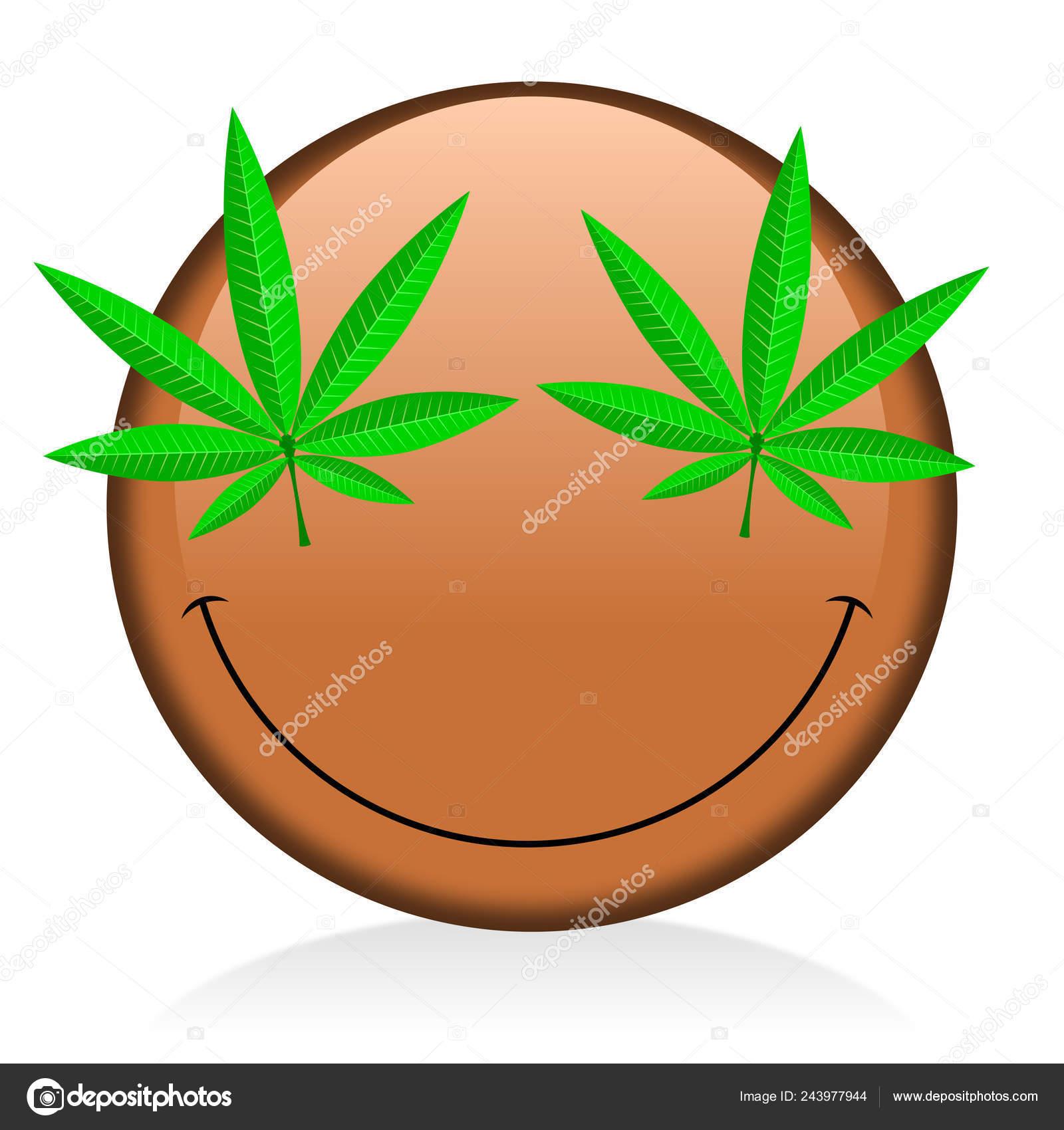 Emoji Smoking Weed Funny Face — Stock Photo © 3d_generator