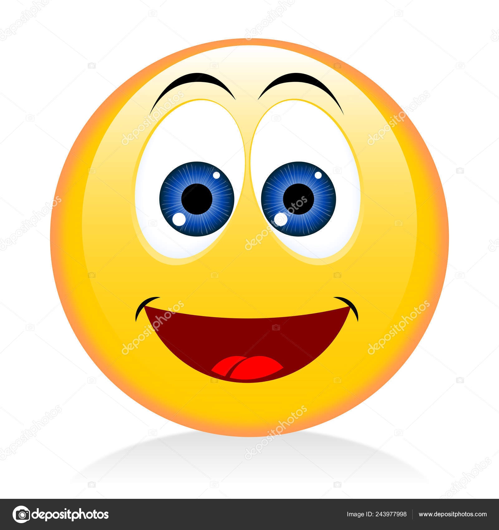 Emoji Emoticon Happy Funny Face — Stock Photo © 3d_generator