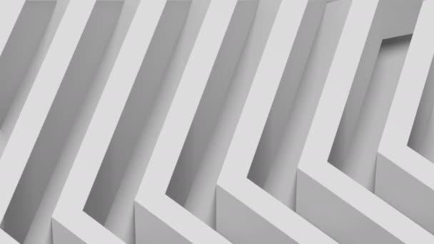 3D 4k fekete-fehér (szürkeárnyalatos) háttér/minta animáció-hatszögletű alak