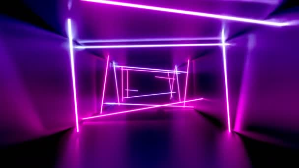 3D 4k abstract tunnel/ neon lights animation