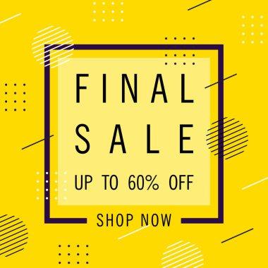 Final Sale, speech bubble banner design template, discount tag,