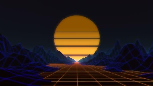 Night Drive Loop  Retro Background  Retro Title Psychedelic Trippy VJ Loop  (4K)3D Retrowave VJ LoopUltraHD, 3840x216030 fps Seamlessly  looping QuickTime Photo JPEG