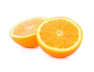 Orange halves isolated on white background. Citrus food
