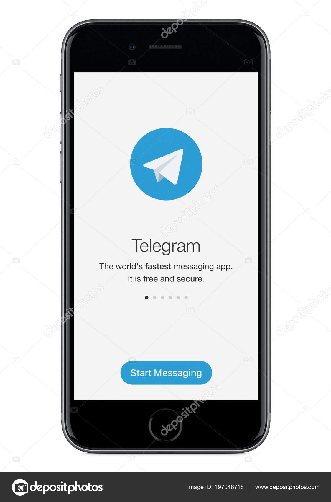 Telegram Messenger Launch Screen With Telegram Logo On Black Apple