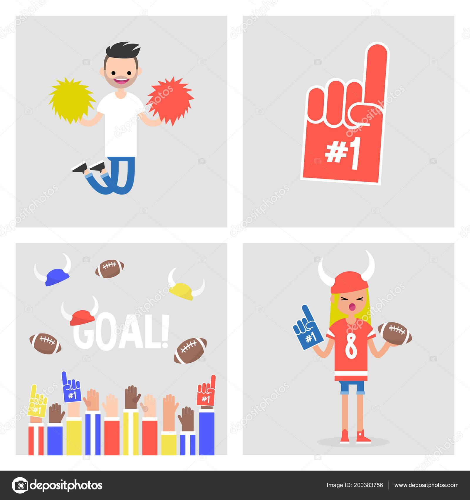 Sammlung Von Sport Bilder Figuren Und Objekte Fans Und