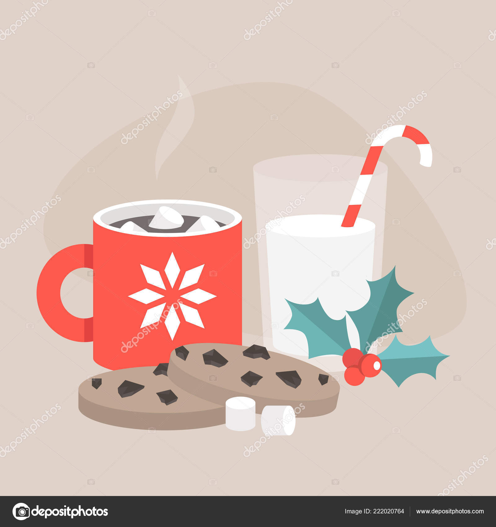 Christmas Snacks Chocolate Chip Cookies Hot Chocolate Marshmallows