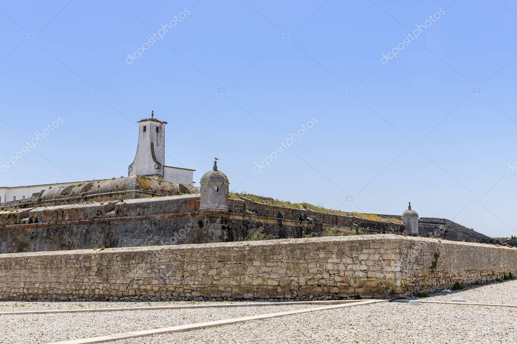 The Peniche Fortress in Peniche Portugal