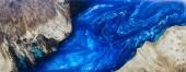 Fotografie Epoxid Gießharz Stabilisierung Burl Holz blau Hintergrund