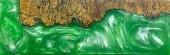 Gießen Epoxidharz stabilisierende Afzelia Noppenholz rote Lava auf weißem Hintergrund Textur, schöne abstrakte Kunst Bild Foto