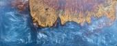 Gießen Epoxidharz stabilisierende Noppenholz blau abstrakten Hintergrund