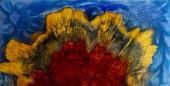 Gießen Epoxidharz stabilisierende Noppenholz schwarz wtite abstrakten Hintergrund