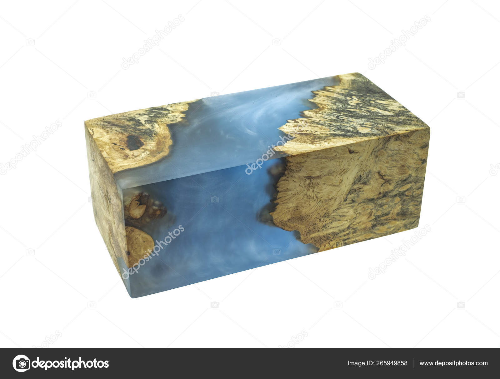 Casting Epoxy Resin Stabilizing Burl Afzelia Wood Color