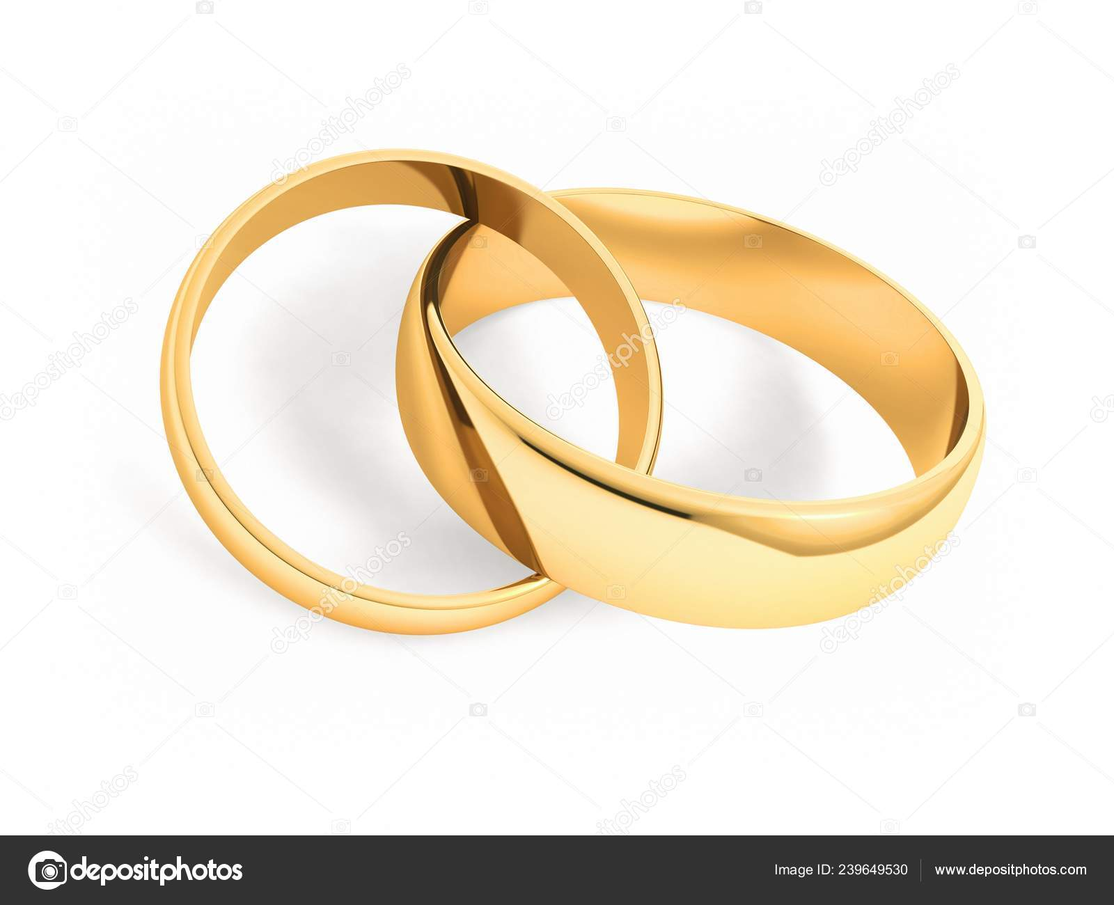Gold Wedding Rings White Background Stock Photo Dreamerb