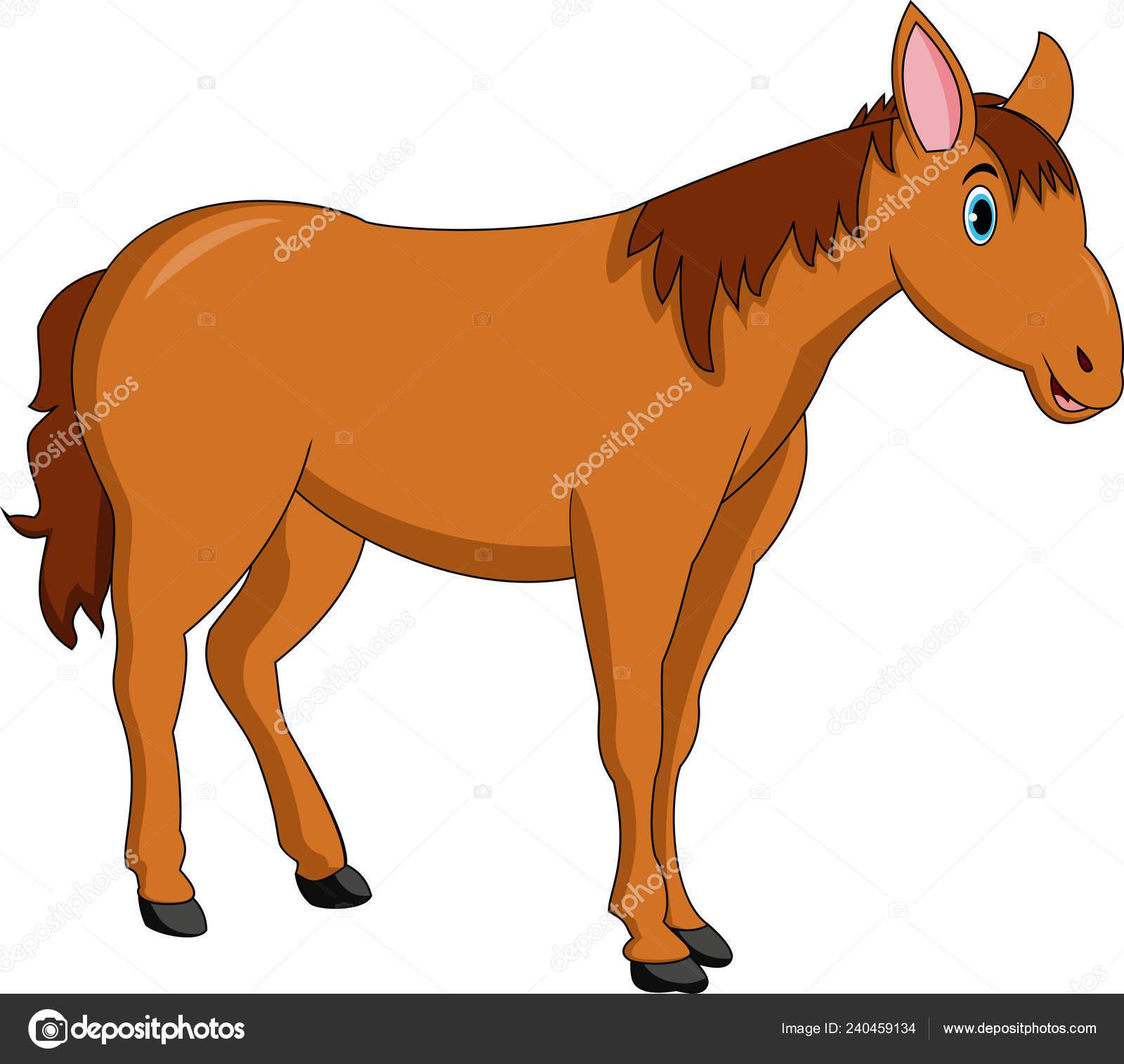 Vector Illustration Cute Horse Cartoon Stock Vector C Ciputra 240459134