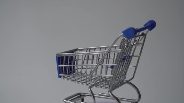 shopping cart on a white background. online shopping.