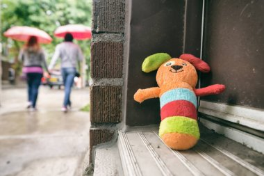 Montreal, July 1st 2017: Lost toy on Marie Anne street
