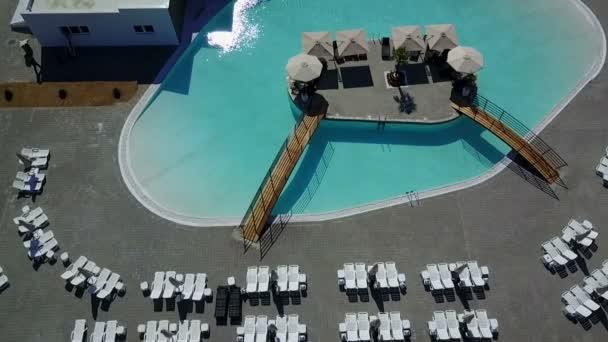 Water land Aqua park swimming pool aerial view