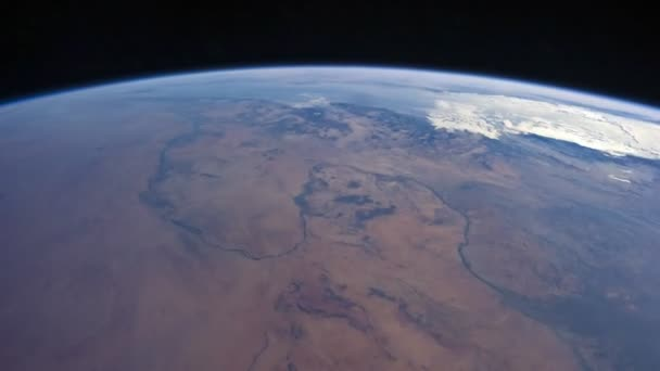 Time lapse of earth shot from International Space Station (ISS). Created from Public Domain images, courtesy of NASA Johnson Space Center.