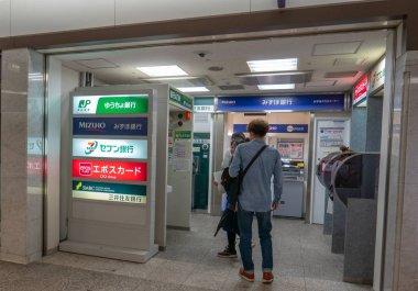 OSAKA, JAPAN - NOVEMBER 9, 2018 : Unidentified people queue at A