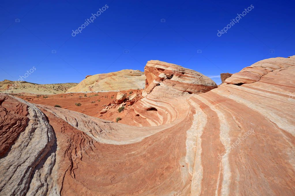 Fire Wave and blue sky - Valley of Fire State Park, Nevada