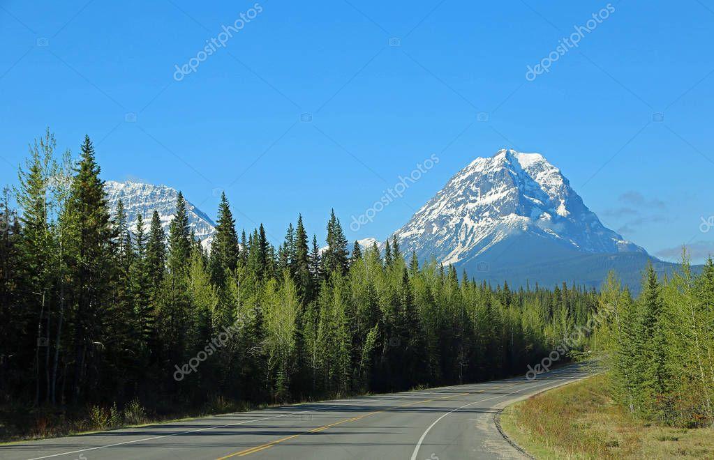 Geraldine Peak and Icefield Parkway - Jasper National Park, Alberta, Canada