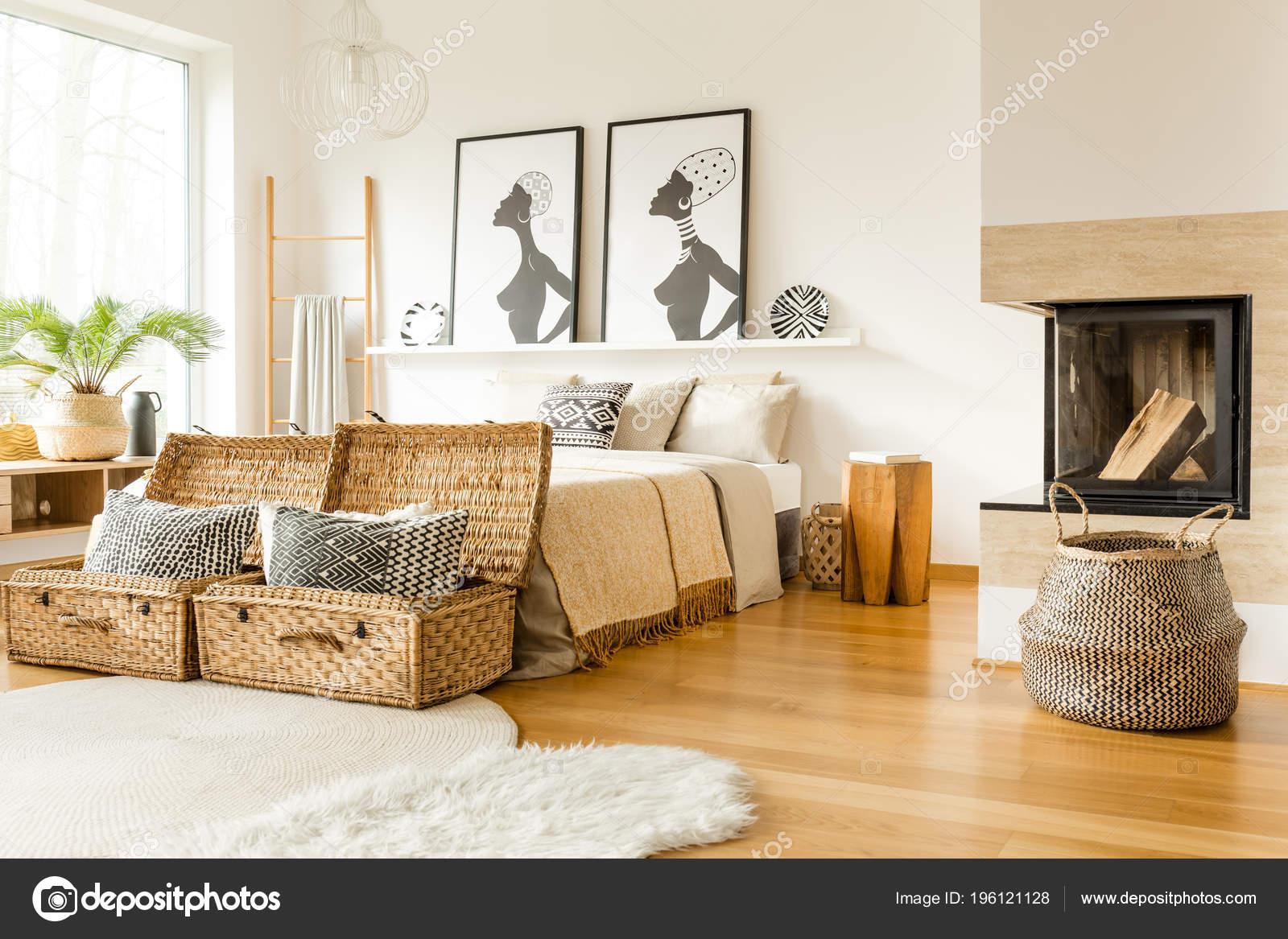 Kominek Wattle Pola Poduszki łóżka Afryki Plakaty Wnętrza