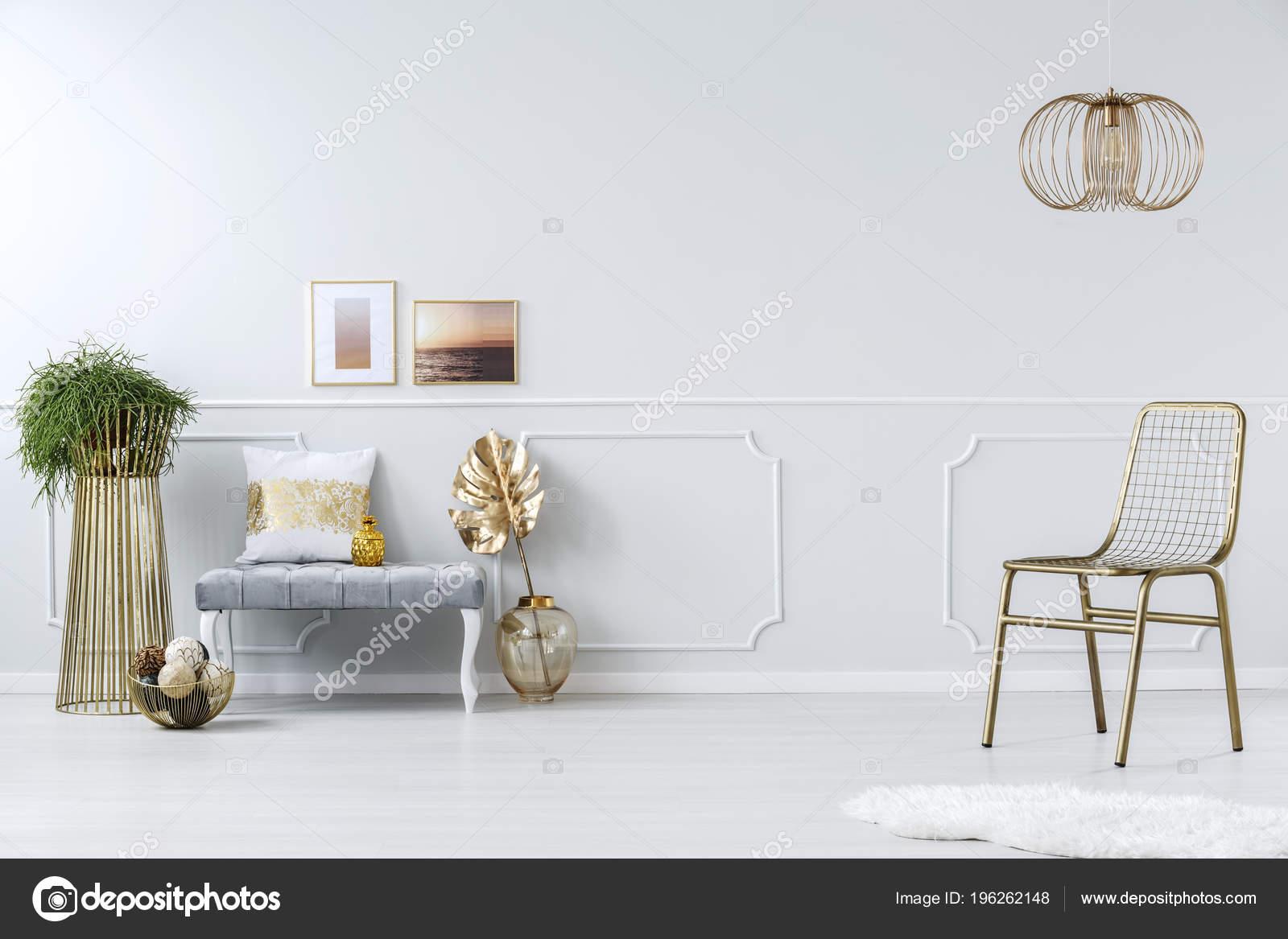 Panca Imbottita Design : Sedia metallo dorato netto lampadario design creativo elegante